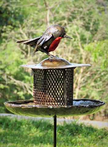 Standing Cage Robin Bird Feeder (New March 2018)