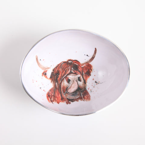 Highland Cow Oval Bowl Small (min 4)