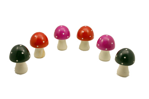 Soapstone Toadstools Large (min 3 - assorted colours)
