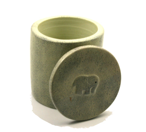 Elephant Grey Storage Jar 11cm (min 2)