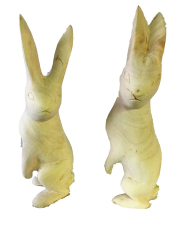 Hand Carved Wooden Hare 30 cm *In Stock From April 2018*