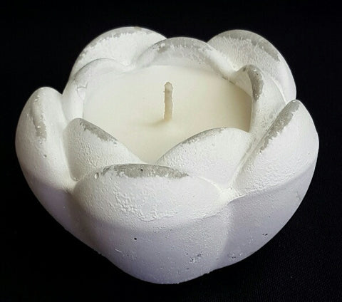 White Tulip Flower Scented Candle (min 4) 8cm