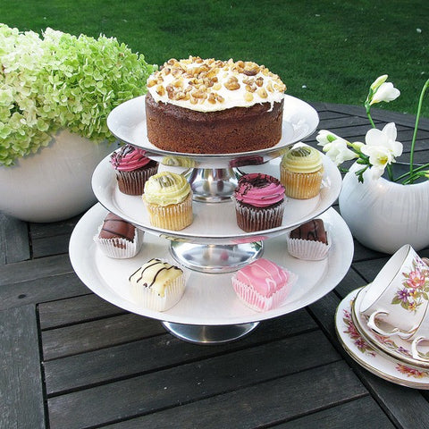Ivory Cake Stand Large - SOLO PRODUCT SPECIAL SALE PRICE (min 2)