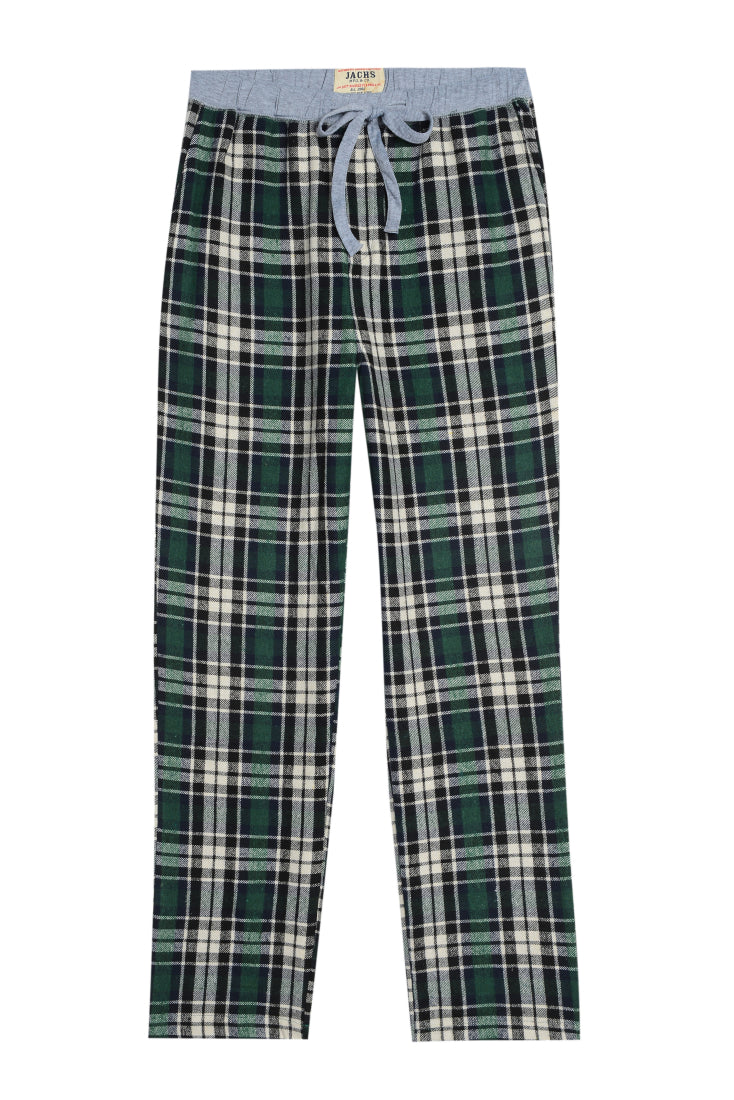 Green Plaid Flannel Lounge Pant