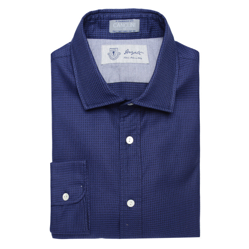 Canclini Luxe Sport Shirt in Blue
