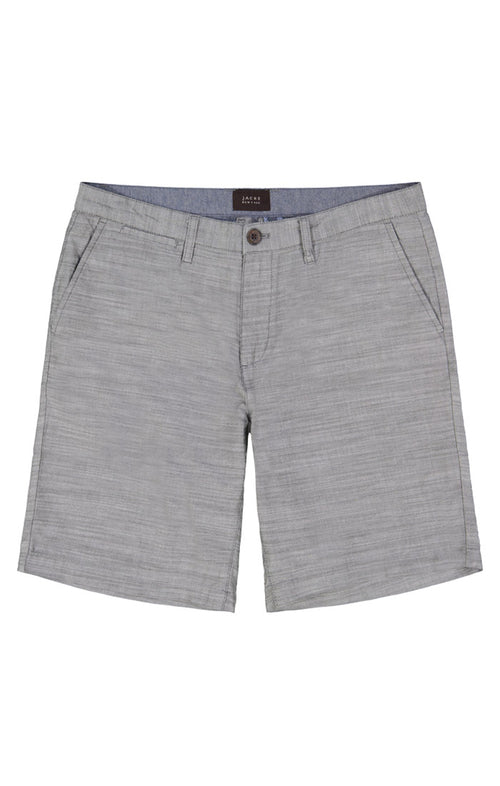 Grey Slub Chambray Short