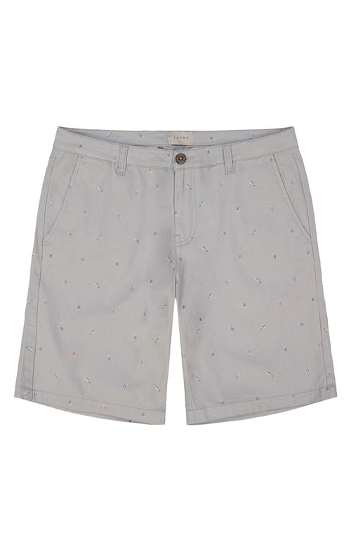 Fish Lure Print Stretch Chino Short