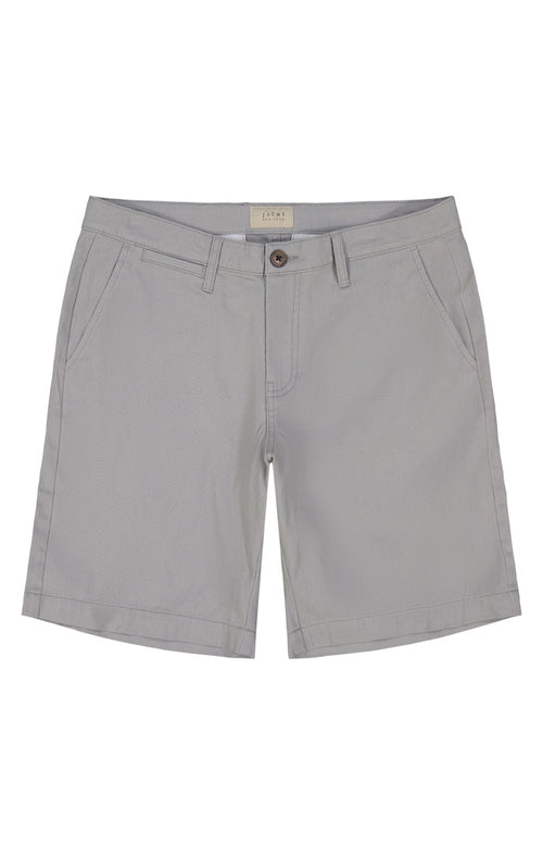 Grey Stretch Twill Chino Short