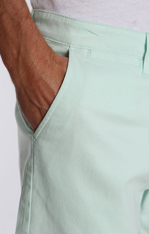 Mint Stretch Twill Chino Short