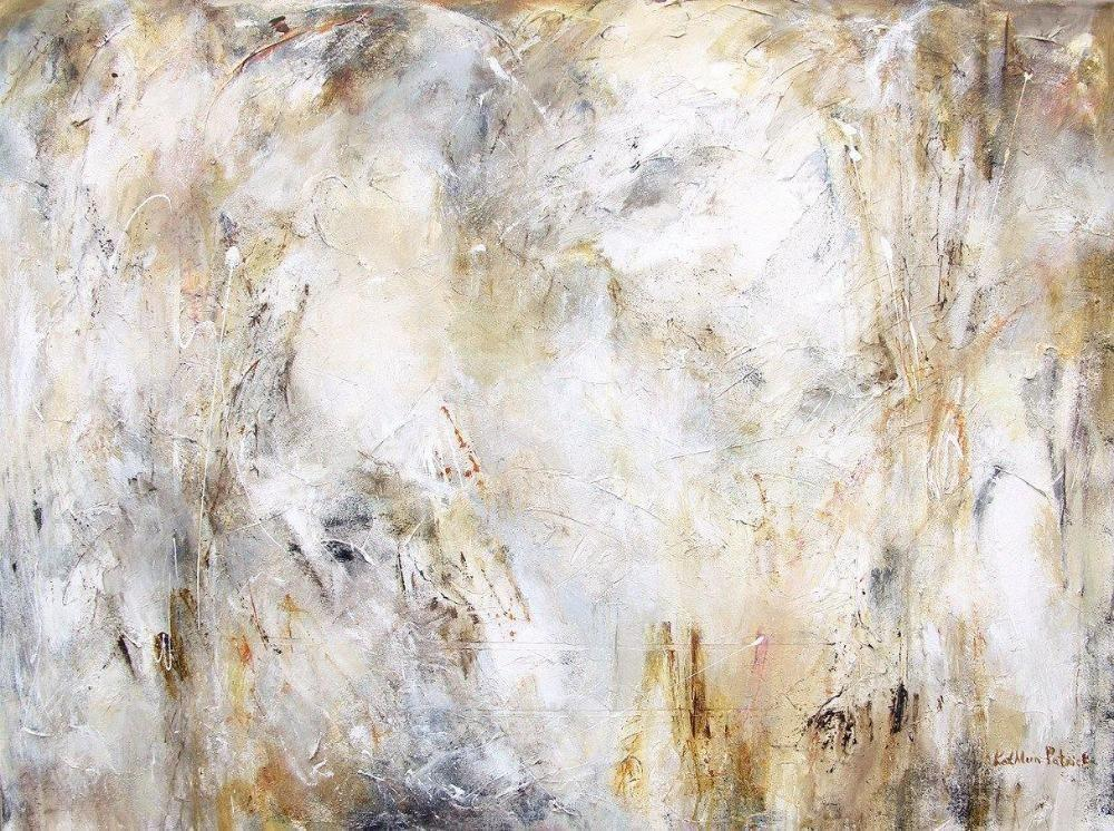 Neutral color abstract painting print