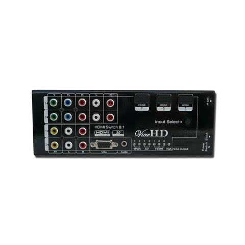 ViewHD Multi-functional 8x1 HDMI Converter Switch 8 Inputs to One Output Support 1080P | 3D | 4K HDTV | VHD-MS8X1