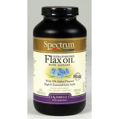 Spectrum Essentials Organic Ultra Enriched Flax Oil with Lignans - 1000 mg - 250 Softgels
