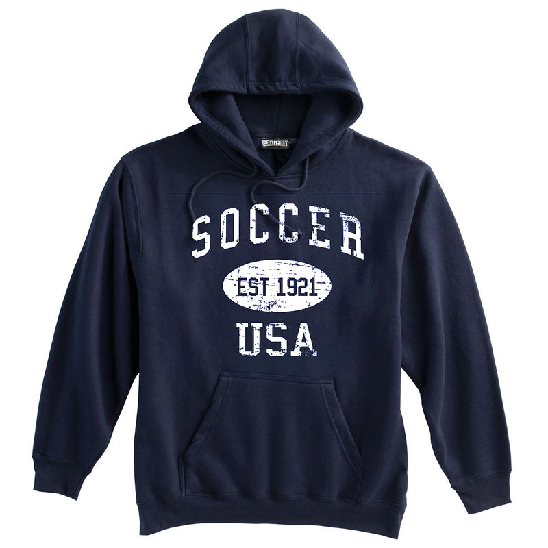Soccer Sweatshirt-Vintage Distressed Established Date USA