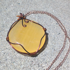Custom large citrine crystal necklace