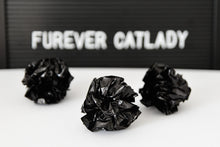 Load image into Gallery viewer, Furever Catlady BLACK crinkle balls, 3pcs
