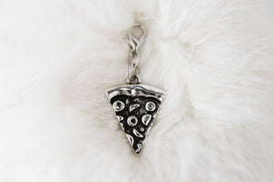 Pendant with clasp, Antique silver PIZZA