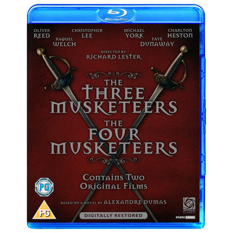 THE THREE MUSKETEERS/ THE FOUR MUSKETEERS blu-ray front cover