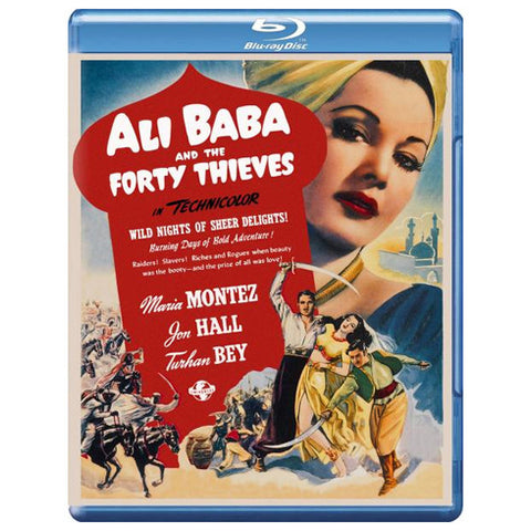 ALI BABA AND THE FORTY THIEVES blu-ray front cover