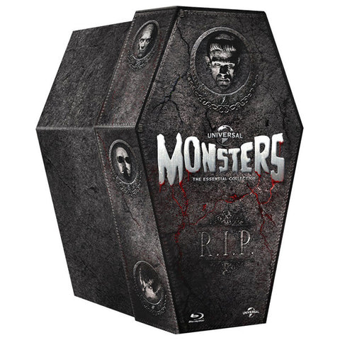 The Classic Monster Coffin Collection blu-ray front cover
