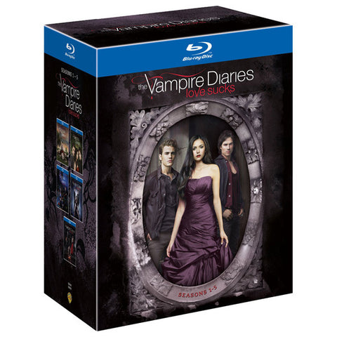 The Vampire Diaries Seasons 1-5 blu-ray front cover