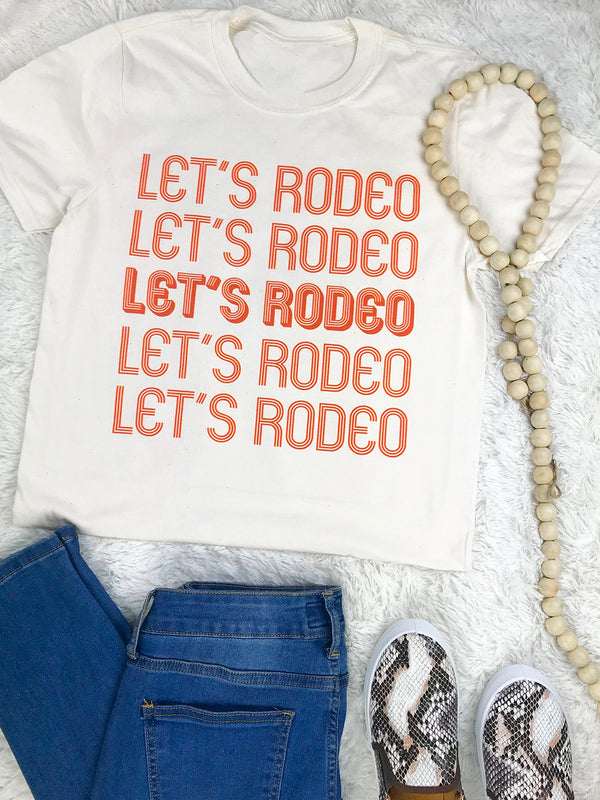 1162 Let's Rodeo Tee