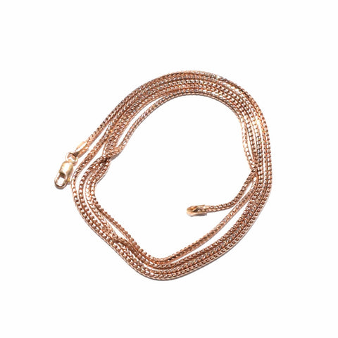 Solid Rose Gold Franco Chain 1.3mm