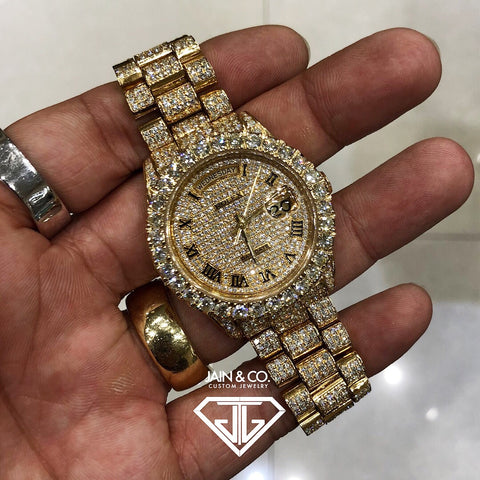 Rolex Day Date Presidential Fully Bust Down