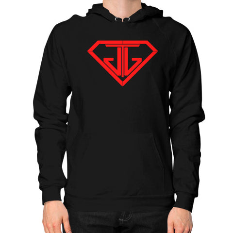 JTJ Blood Red Logo Men's Hoodie Black - Jain The Jeweler