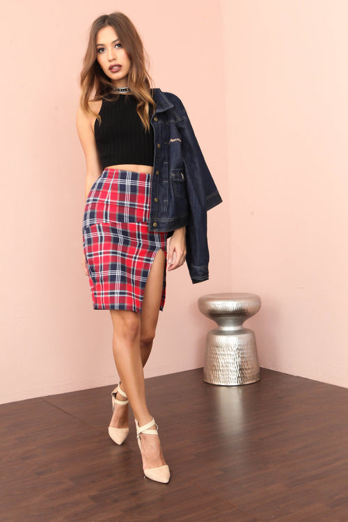 Plaid Attitude Skirt