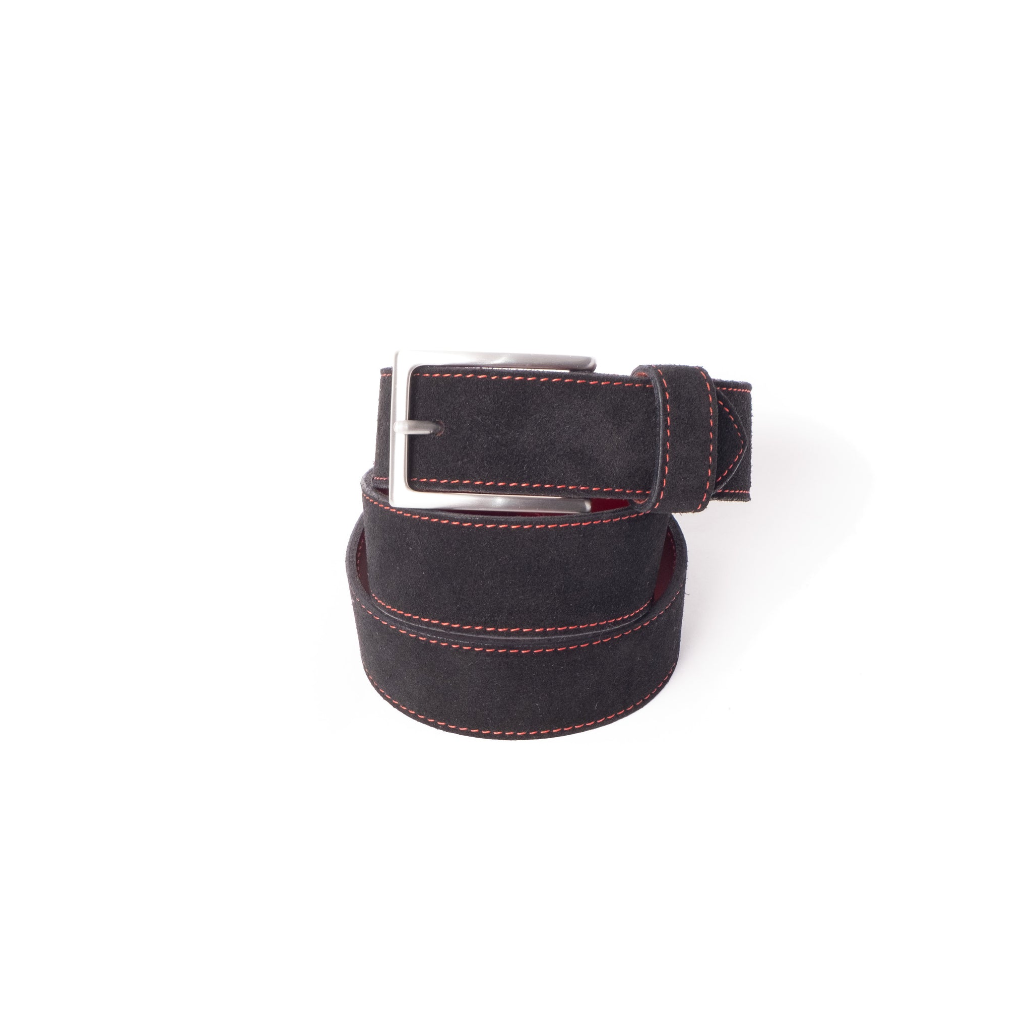 'Dirk' Jeans Belt - Black Suede