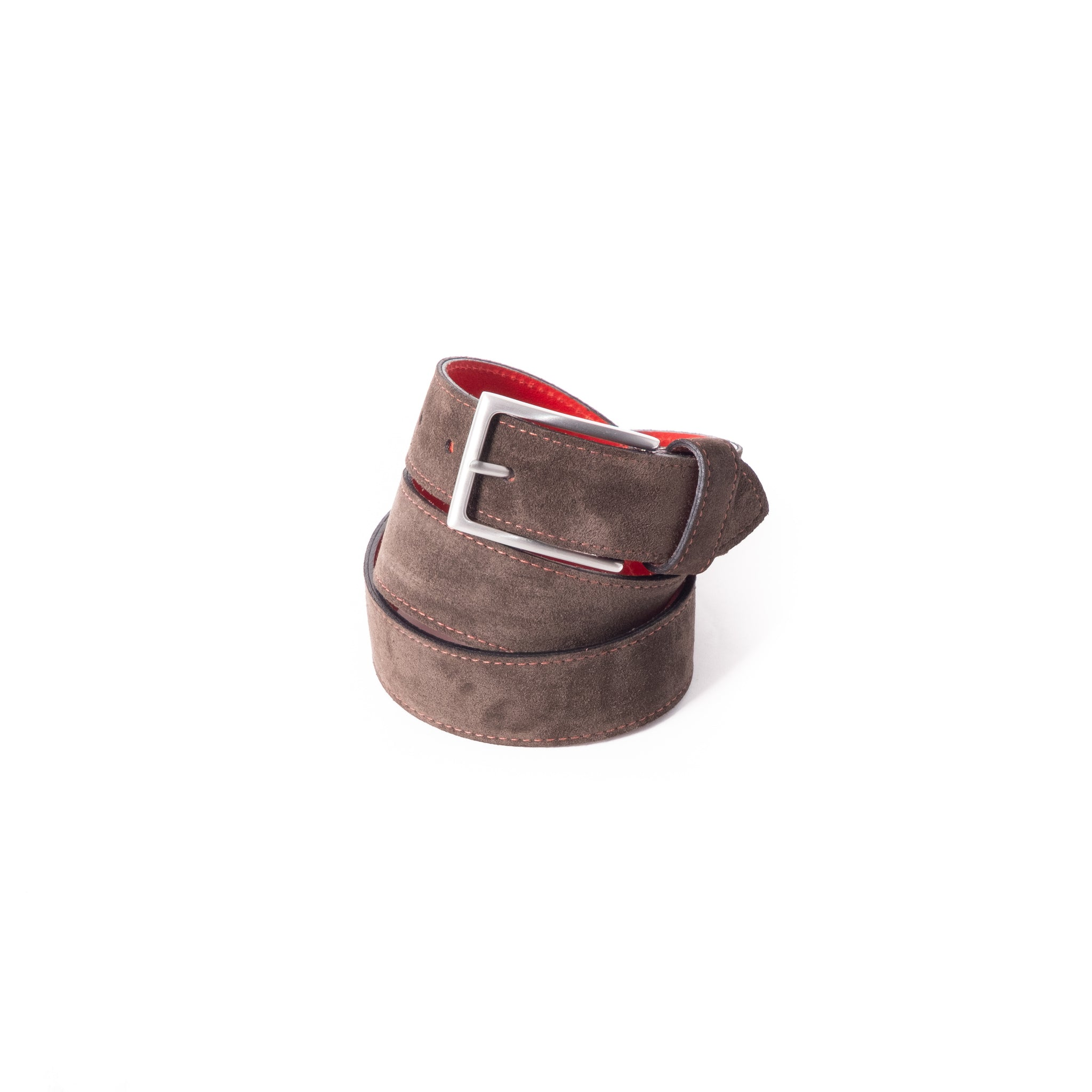 'Dirk' Jeans Belt - Brown Suede
