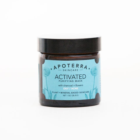 Apoterra Skincare - Activated Purifying Mask with Charcoal + Flowers