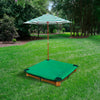 Interlocking Sandbox w/Mesh Sandbox Cover and Umbrella - Swing Set Paradise