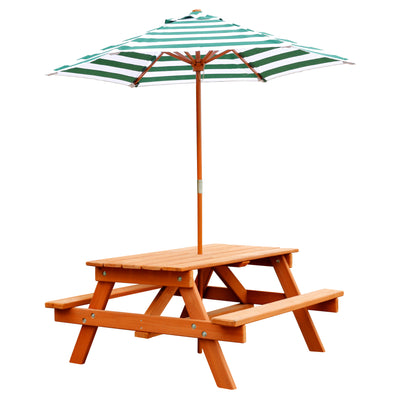 Childrens Picnic Table with Umbrella - Swing Set Paradise