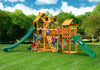Gorilla Playsets Treasure Trove II Malibu Wood Roof Swing Set - Swing Set Paradise