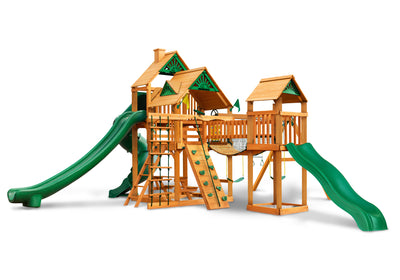 Gorilla Playsets Treasure Trove II Wood Roof Swing Set - Swing Set Paradise