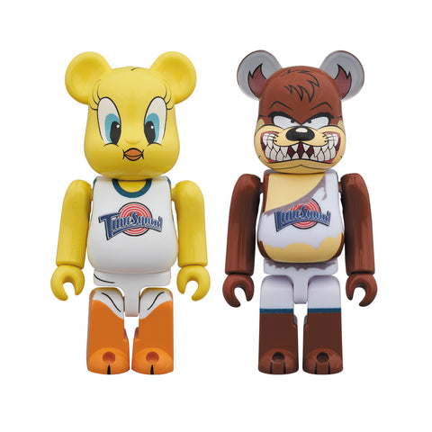 Medicom Toy x Space Jam - 100% Tweety and Taz Be@rbrick Set - Collect and Display
