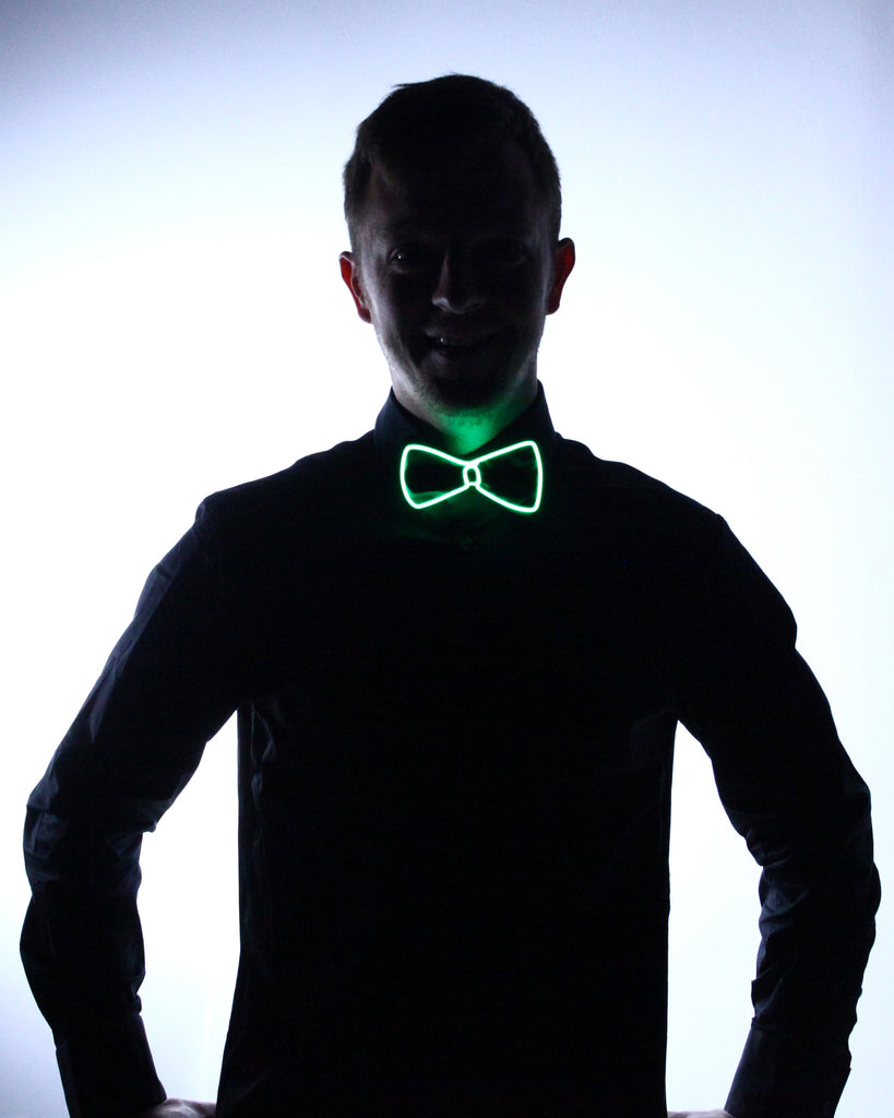 Black Light Up Bow Tie - Electric Styles | World's Number 1 Light Up Shoe Store - {product_type}} - Green - 5