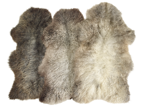 Luxury Norwegian Grey Pelssau Sheepskin