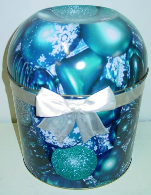 Combo Popcorn Tin (2 Gal) - Blue Ornament Bowl