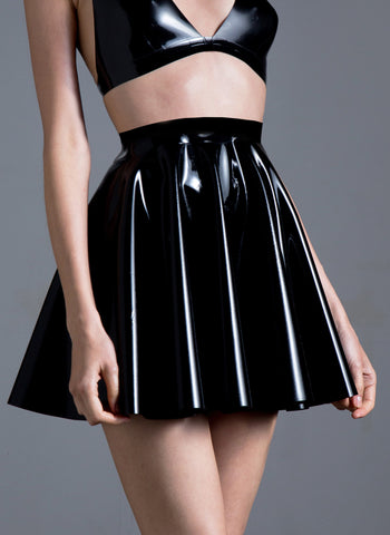 Latex Starlet Circle Skirt