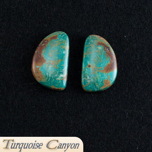 Set of Two Natural Kingman Mine Turquoise Loose Stones - 52.0 Carats SKU224683