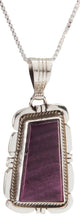 Load image into Gallery viewer, Navajo Native American Purple Spiny Shell Pendant and Necklace SKU226790