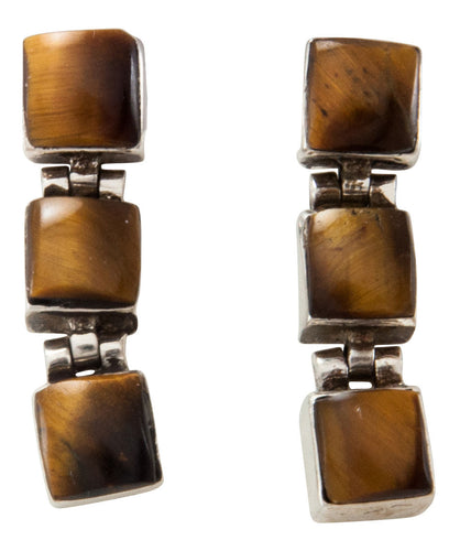 Navajo Native American Tiger Eye Earrings SKU227317