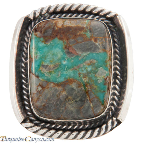 Navajo Native American Kingman Turquoise Ring Size 8 3/4 by Willeto SKU227443