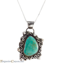 Load image into Gallery viewer, Navajo Native American Carico Lake Turquoise Pendant Necklace SKU227579
