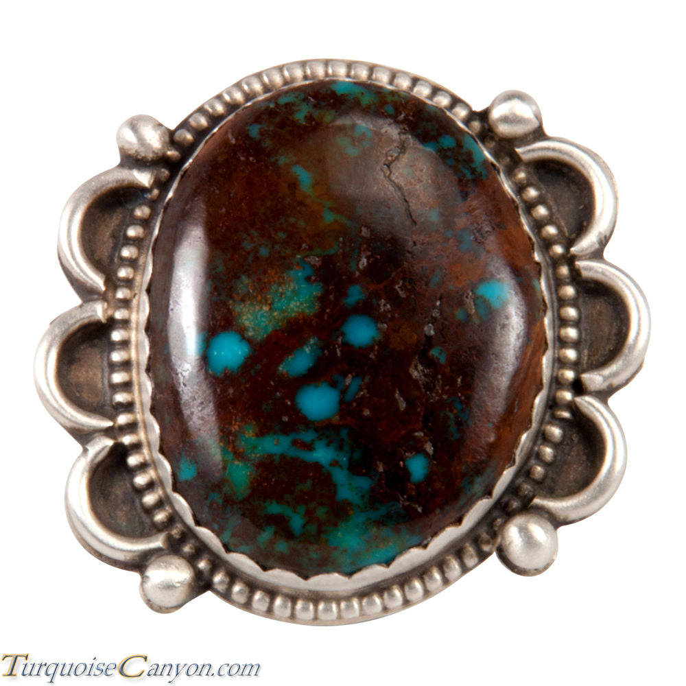 Navajo Native American Kingman Turquoise Ring Size 7 1/4 by Jim SKU227601