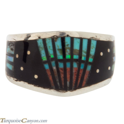 Navajo Native American Peyote Style Turquoise Ring Size 12 by Smith SKU228130