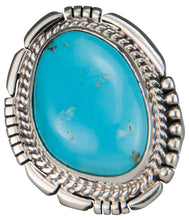 Load image into Gallery viewer, Navajo Native American Castle Dome Turquoise Ring Size 7 1/4 SKU229586