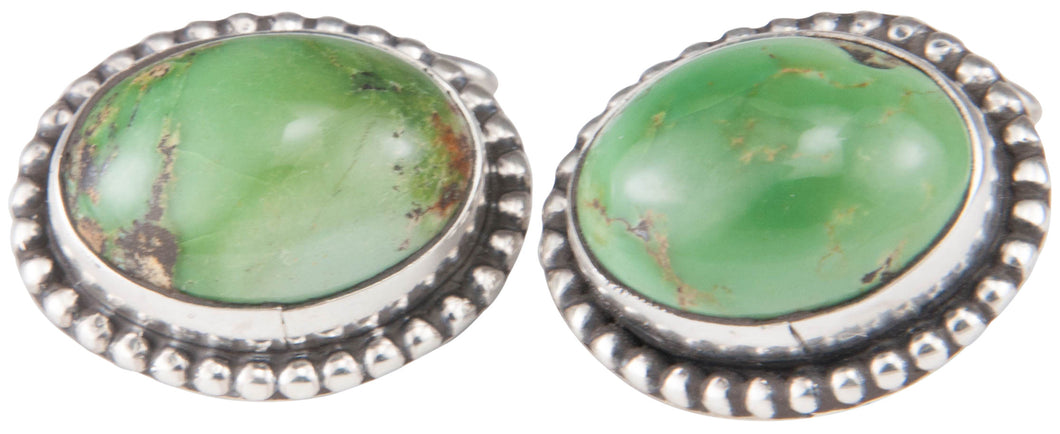 Navajo Native American Green Kingman Turquoise Cuff Links by Willeto SKU229947